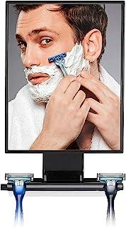 محصولات توالت Tree Deluxe بزرگتر آینه تراشیدن بدون مه و دوش با جوراب بافی ، بزرگ ، سیاه