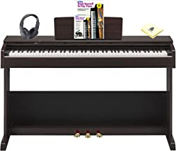 Yamaha Arius YDP-103R 88 Key Home Digital Piano with Graded Hammer Keyboard included Matching Bench, Headphone, Piano (Book & CD) and Zorro Sounds Piano Polishing Cloth Complete Piano Package