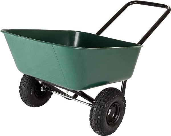 Garden Star 70019 Garden Barrow Dual Wheel Wheelbarrow Garden Cart