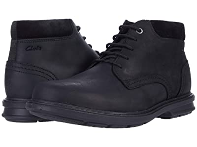 Clarks Rendell Peak (Black Leather) Men