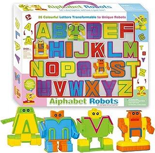 Cyeah Alphabet Robot Toys for Preschool Kids Education 26 Pieces