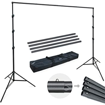 200 200cm//78 78inches Aluminium Alloy Adjustable Photography Studio Background Backdrop Stand Support System Kit Heavy Duty Photo Video Crossbar Kit with Carry Bag 6pcs Clips for Home Studio Walmeck