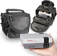 Orzly Travel & Storage Bag for Nintendo NES Classic Edition (New 2016 Model Mini Version of NES Console) - Fits Console + Cable + 2 Controllers - Includes Shoulder Strap + Carry Handle - Black