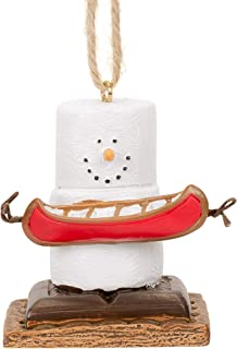Midwest-CBK S'Mores Man Holding a Canoe Ornament