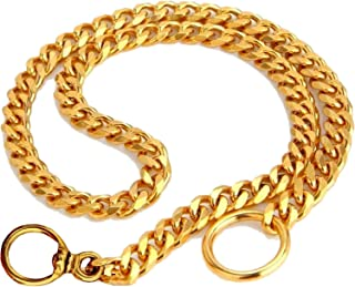 RvPaws Dog Training Brass Choke Chain Collar for Small Dogs, 3 mm, 18 Inch