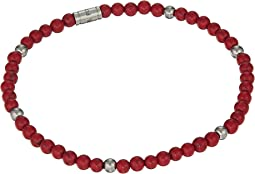 Stainless Steel Wellness Beaded Bracelet