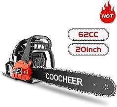 """COOCHEER Ladyiok Chainsaw 62CC 20"""" Powerful Gas Chainsaw 2 Stroke Handed Petrol.."""