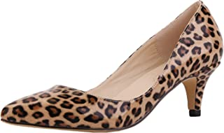 Women's Slender Kitten Heels Pointed Toe Pumps Court Shoes