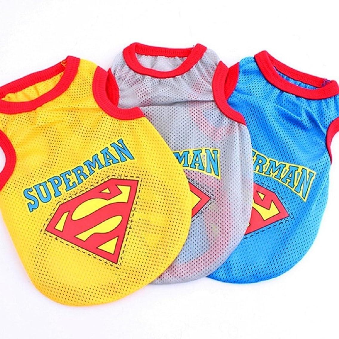 Superman Shirt Pet Clothes for Dog Cat Puppy Shirt Summer Vest Dogs T-Shirt