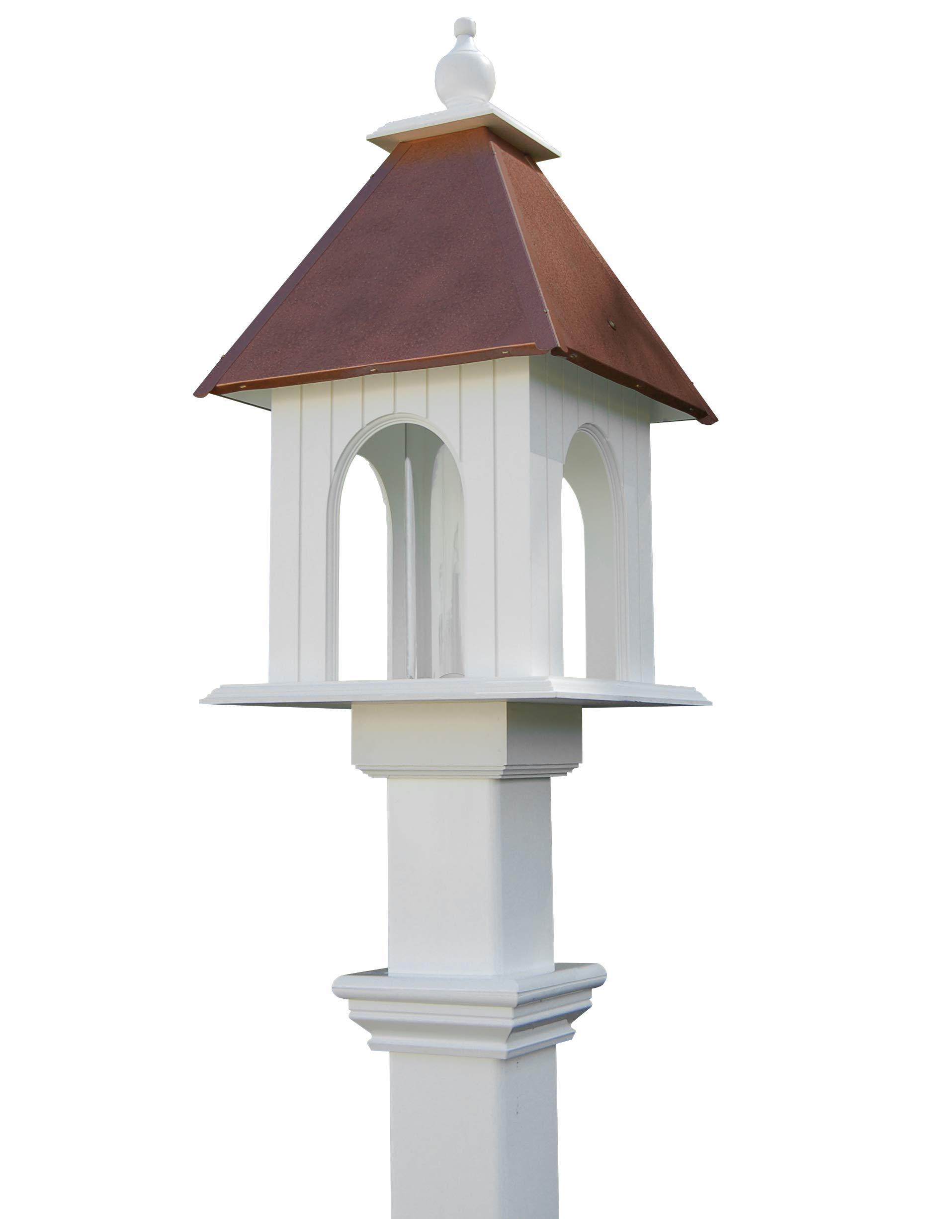 Amazon Com Bestnest Wing A Prayer Dogwood Bird Feeder Hammered Copper Colored Roof Garden Outdoor