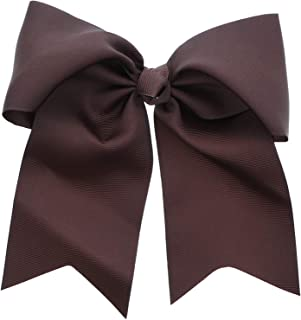 Dark Brown Jumbo Bow Clip with Tails