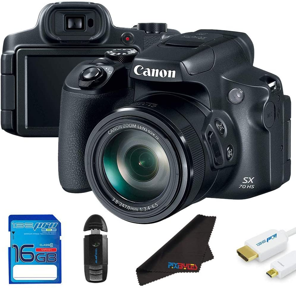 Canon Powershot SX70 HS Digital Camera (International Version) + 16GB SD Memory Card Bundle