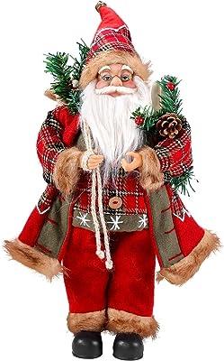 2x Salon Chambre X-MAS Table Décoration Père Noël Stand personnages hauteur 36 cm