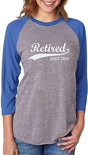 Tstars Retired Since 2019 - 趣味退休礼物 3/4 女式棒球运动衫