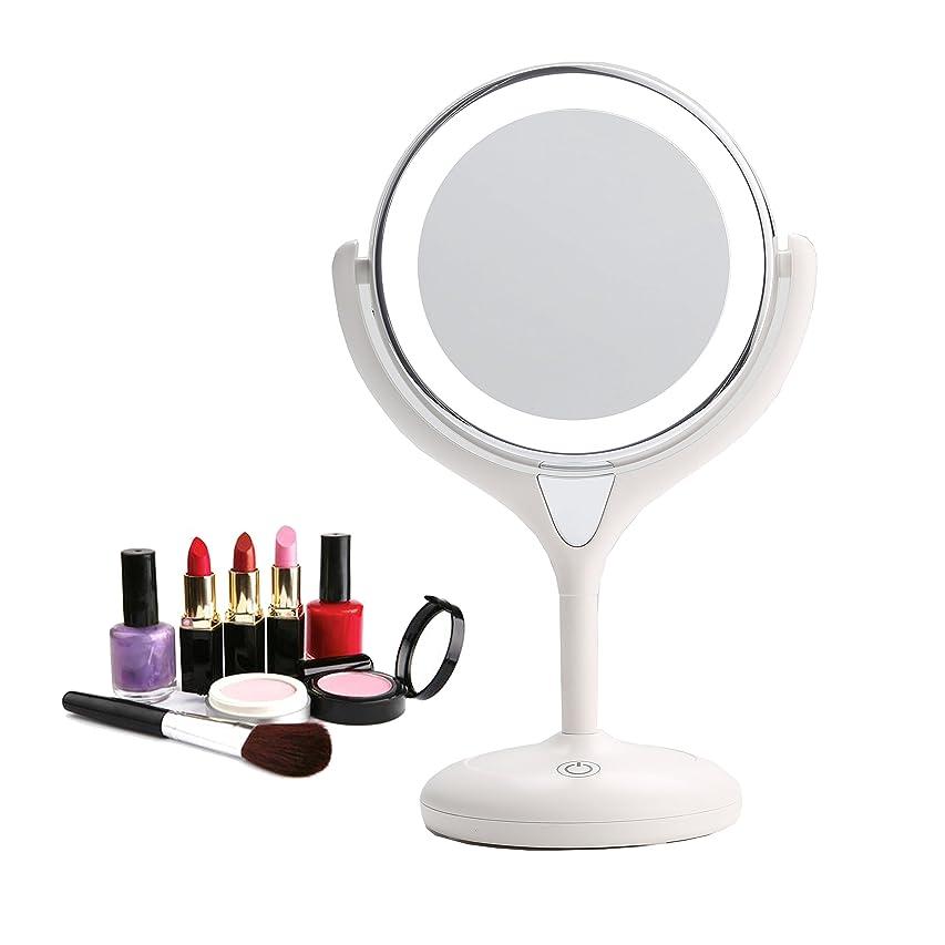 注文時代ホイールBestaid-スタンドミラー シンプルデザイン 真実の両面鏡DX 10倍拡大鏡 360度回転 卓上鏡 メイク 化粧道具 14 * 11.5 * 28.5cm