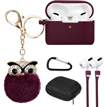 Cute Owl Fluffy Fur Leather Case Cover