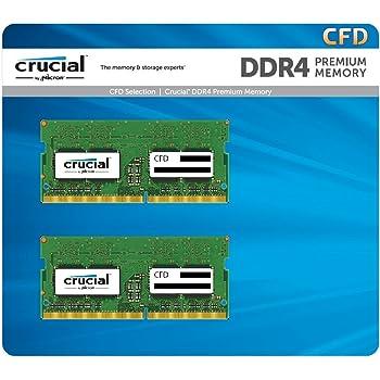 CFD販売 ノートPC用メモリ PC4-19200(DDR4-2400) 8GB×2枚 / 260pin / 無期限保証 / Crucial by Micron / W4N2400CM-8G