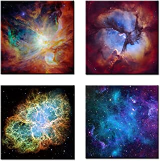 Kreative Arts Cosmic Cloud Orion Crab Nebula Canvas Prints Wall Art, Multicolor