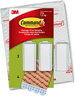 Command Large Canvas Hangers, Indoor Use, 3-Hooks, 4-Strips, Decorate Damage-Free
