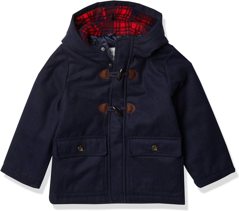 Carter's Boys' Faux Wool Heavyweight Toggle Jacket, Navy, 4