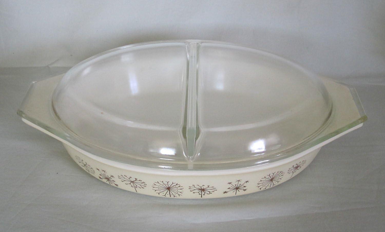 Dandelion Pattern with Lid Pyrex Dandelion Duet Promotional 1 12 Qt Divided Dish