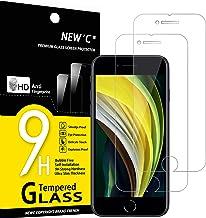 NEW'C Lot de 2, Verre Trempé Compatible avec iPhone Se 2020, Film Protection écran sans Bulles d'air Ultra Résistant (0,33mm HD Ultra Transparent) Dureté 9H Glass