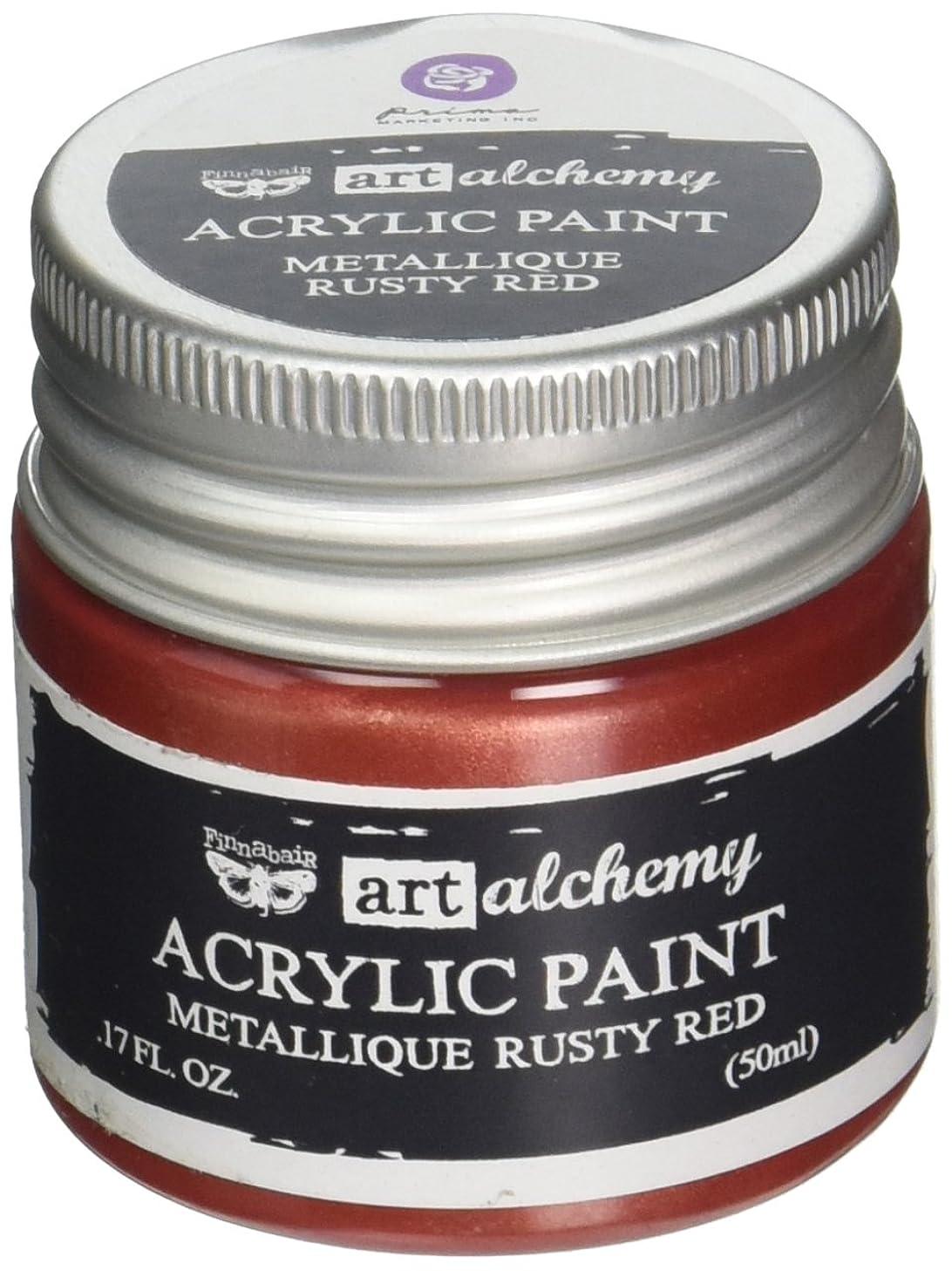 Prima Marketing 963156 Finnabair Art Alchemy Acrylic Paint, 1.7 fl. oz, Metallique Rusty Red