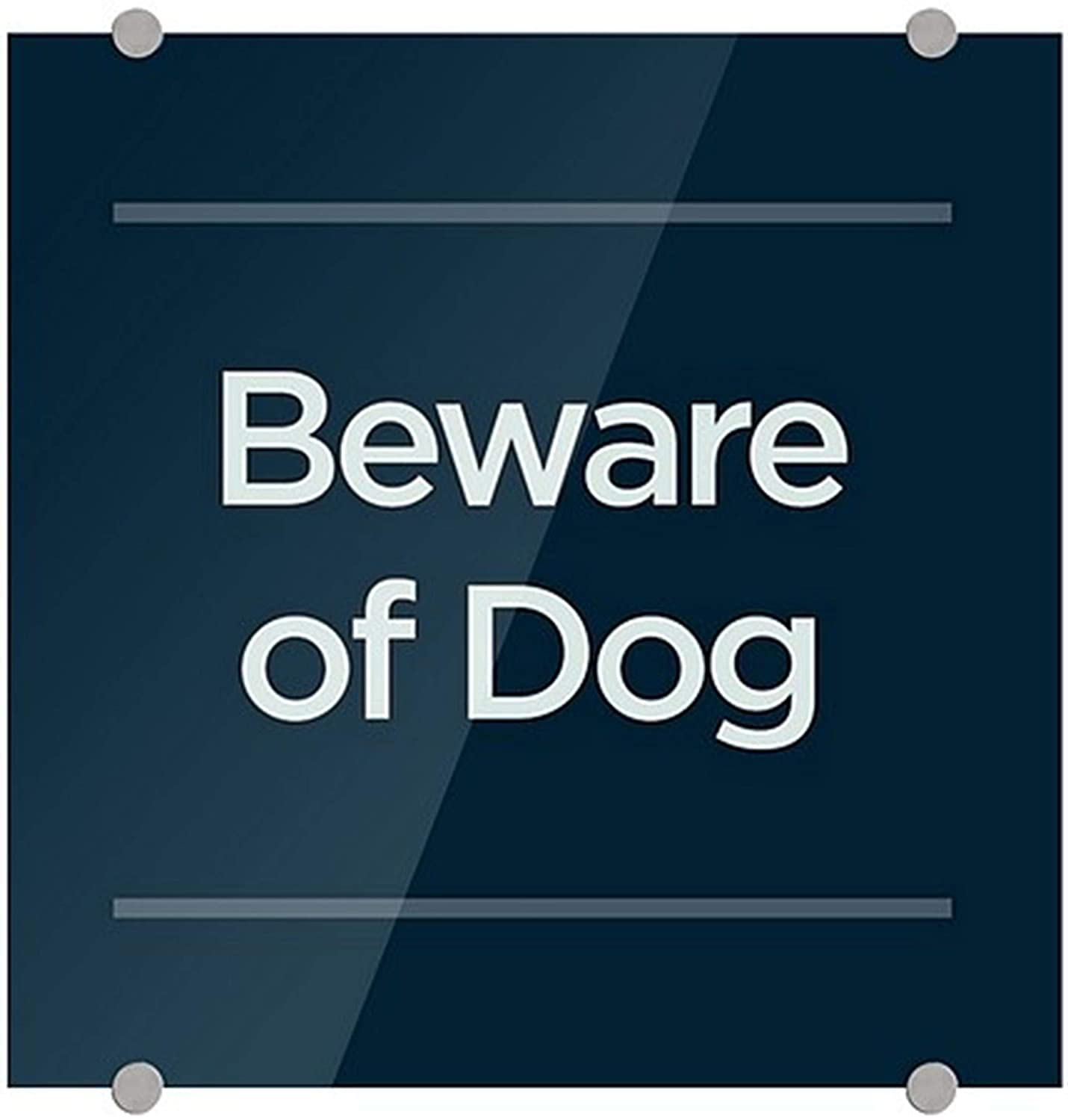 CGSignLab 2461445_5mbsw_16x16_None Beware of High quality Long-awaited Navy Dog -Basic 3mm