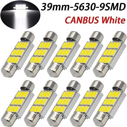 taben 2pcs C5/W bombilla LED 5050/6SMD c/úpula luz 1,25//¡/± 31/mm LED Festoon Bombilla Interior del coche de la matr/ícula Luces de Cortes/ía mapa DE3175/DE3021/blanco DC 12/V