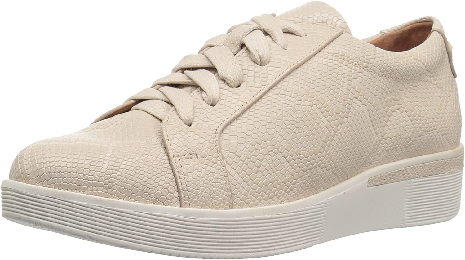 Gentle Souls Womens Haddie Platform Lace-up Fashion Sneaker- Embossed Sneaker