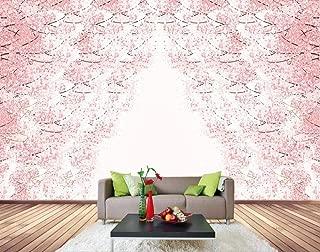 Papel Pintado Pared 3D Murales Pared Románticas Hermosas Flores De Cerezo Rosa Papeles Pintados Fotomurales Decorativos Pared Decoración Mural Pared