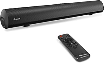 Best Soundbar Wohome TV Sound Bar 50W 30-Inch with 3 EQs, 3D Surround Sound, Bluetooth 5.0, Remote Control, 4 Drivers, Deep Bass, Optical Aux Coaxial USB Inputs, Wall Mountable, Model S06 Review