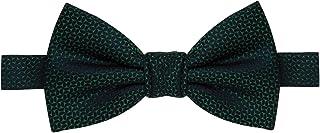 Gravata borboleta verde escuro com detalhes em verde claro