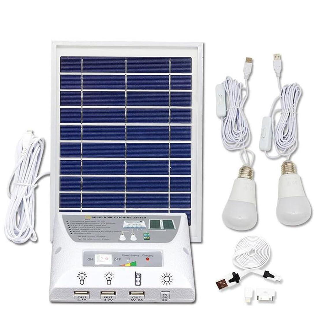 連合ヘッドレス独裁者太陽エネルギーランプ太陽光発電システム照明超明るいLED携帯電話充電ライトキャンプテント太陽光発電コンポーネント屋外ファミリーユニバーサル