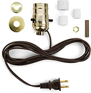 Creative Hobbies M995N-M38 Multi Size Lamp Wiring Kit for Wine, Oil, Liquor Bottle Lamp Conversion -Pre-Wired Ready to Use, DIY Lamp, Unique Side Exit Socket Cap No Drilling Required