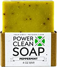 Organic Peppermint Essential Oil Soap 4oz Bar for Athletes- Organic and All Natural Ingredients- No surfactants