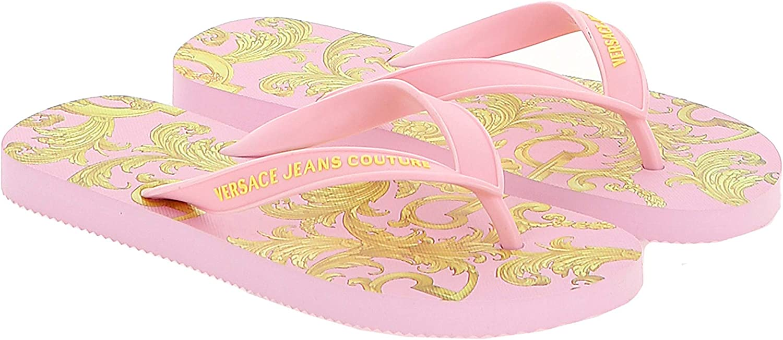Versace Jeans Couture Signature Print Flip Flop- for womens
