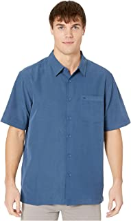 Quiksilver Men's Centinela 4 Button Up Comfort Fit Pocket Shirt, Midnight Navy Centinella, X-Large