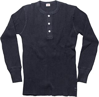 (ヘルスニット) Healthknit/ヘンリーネック長袖Tシャツ/Super Heavy Waffle Henley Neck L/S Tee #990