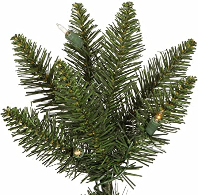 Vickerman Durham Pole Christmas Tree, 5.5-Feet, Pine Green