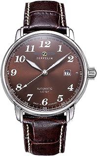 Zeppelin - LZ 127 Graf Zeppelin aubergine 7656-3 - Reloj de caballero automático, correa de piel, color marrón