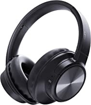 Bluetooth Headphones, Letscom Wireless Headphones Over Ear with Hi-Fi Sound Mic Deep Bass, 3 EQ Sound Modes, 45H Playtime for Travel Work TV PC Cellphone - Black