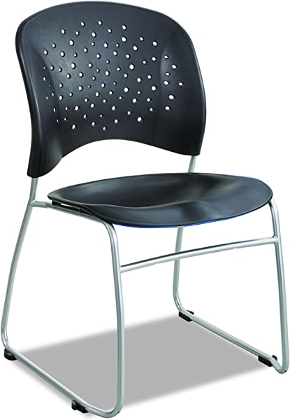 Safco Products 6804BL Reve Guest Chair Sled Base With Round Back Black