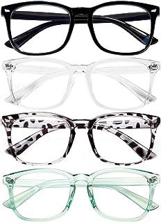 Blue Light Blocking Glasses for Women/Men/FEIDU 4-Pack Computer Gaming Glasses