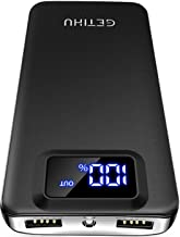GETIHU Portable Charger, LED Display 10000mAh Power Bank,...
