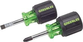 Greenlee 0153-04C Stubby Screwdriver Set, 2 Piece