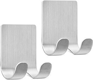 kwmobile 2x houder voor scheermesjes - Set van zelfklevende haakjes - Scheermesjeshouder van zink - Wandhaken in zilver