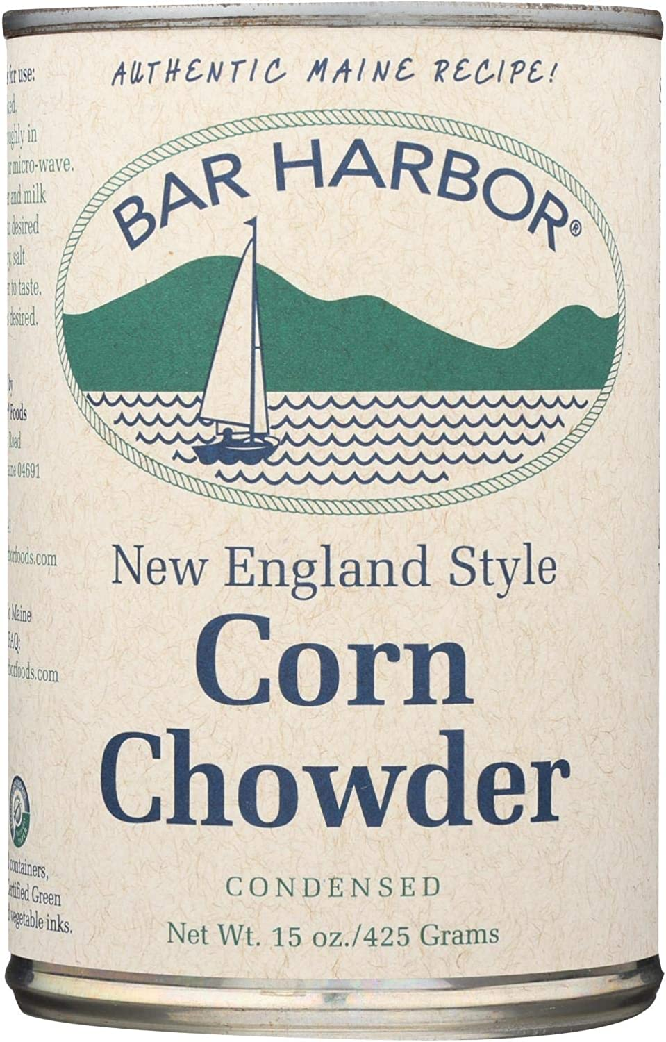 Bar Harbor Shipping included Corn Chowder - oz. 6 of Case Shipping included 15