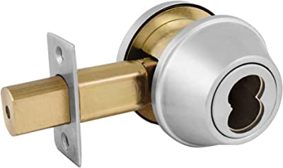 Master Lock DSCICDD32D Heavy Duty Double Cylinder Commercial Grade 2 SFIC Deadbolt, Brushed Chrome Finish