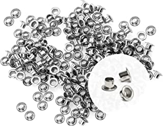 CRAFTMEmore 3MM Hole 200PCS Tiny Grommets Eyelets Self Backing for Bead Cores, Clothes, Leather, Canvas (Silver)